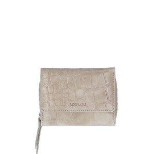 LouLou Essentiels Vintage Croco Silver Wallet Small Taupe