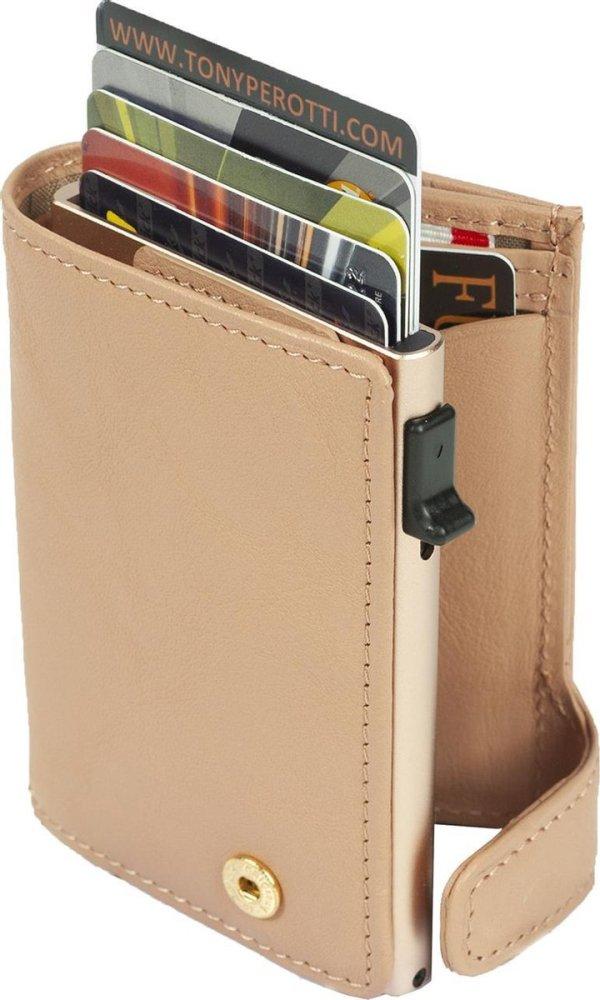 Tony Perotti Aluminium RFID portemonnee met papiergeld vak - Roze