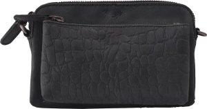 Dames Tasje - Croco Cody Minibag - Crossbody bag - Crossbodytas - Kleine Dames Tasje - Matzwart - Portemonnee Tasje