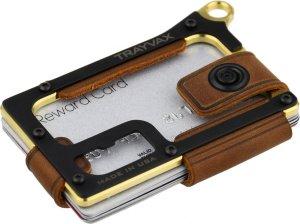 Trayvax Contour, Brass-Tobacco Brown, Heren Creditcardhouder Goud/Koper