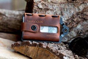 Trayvax Element Black Tobacco Brown- Pasjeshouder Creditcardhouder RFID Leer-Metaal