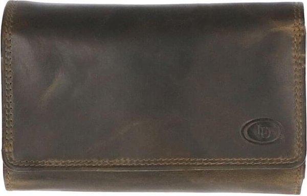 Leather Design Portemonnee met Overslag Hunter Groen