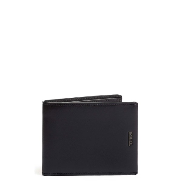 Tumi Nassau SLG Global Wallet With Coin Pocket Black Smooth
