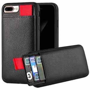 Apple Iphone X/xs Zwart Lederen Ostar Hoesje/case Met Pasjeshouder