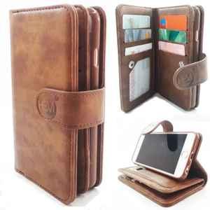 Apple iPhone 6/6S - Bronzed Brown - Pasjeshouder - Telefoonhoesje met