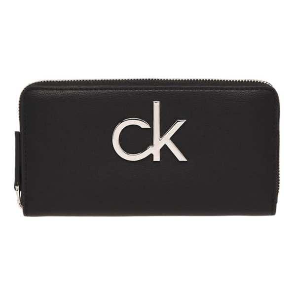 Calvin Klein - Re-lock Ziparound Lg - Portemonnee Dames - Black