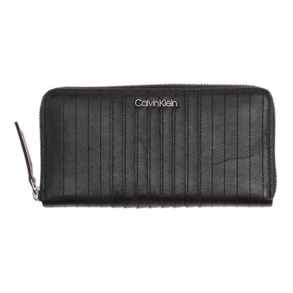 Calvin Klein - Strapped - Large Ziparound - Dames Portemonnee - Black