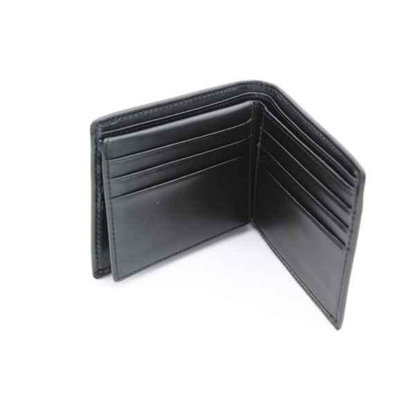 Leren portemonnee met RFID Zwart