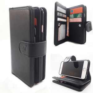 Samsung A7 2018 - Antique Black - Pasjeshouder - Telefoonhoesje met