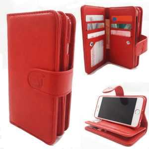 Samsung J4 Plus - Burned Red - Pasjeshouder - Telefoonhoesje met extra