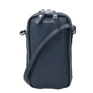 LouLou Essentiels Vegan Saffiano Mobilebag Black