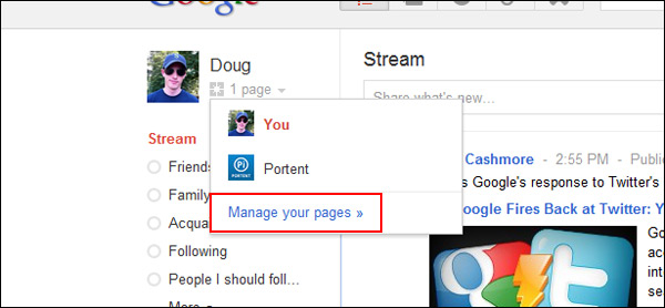 Manage Google+ Pages