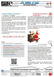 Lettre d'information du Conservatoire
