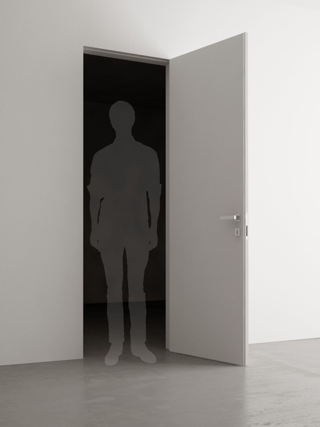 porte battante 60x210 cm. Black Bedroom Furniture Sets. Home Design Ideas