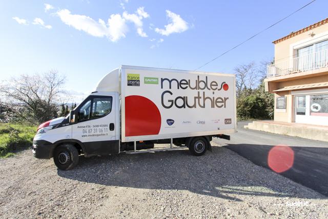 Décoration Camion Iveco des Meubles Gauthier par SUDETIC