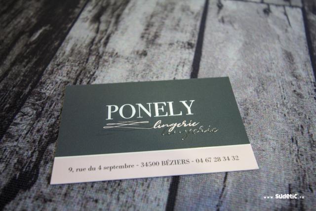 Cartes de visite Ponely Lingerie par SUDETIC