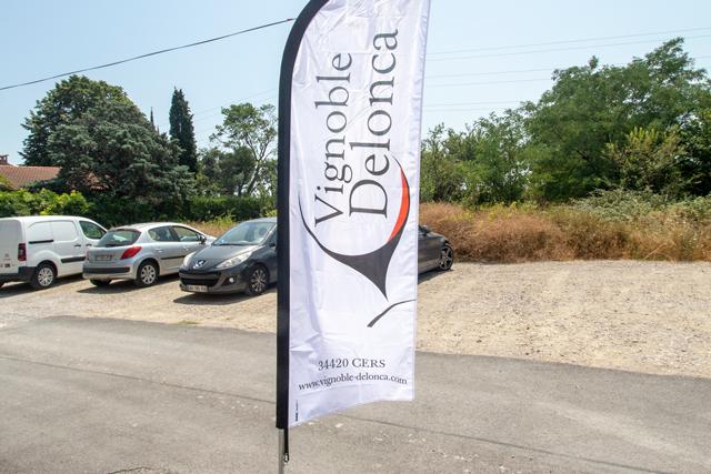 Drapeaux du Vignoble Delonca par SUDETIC