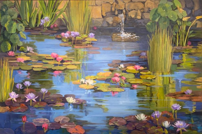 Morning Water Garden Jordan Pope 40x60
