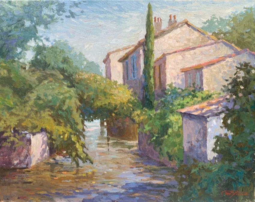 Isle Sur La Sorgue Matthias Fischer 16x20 oil