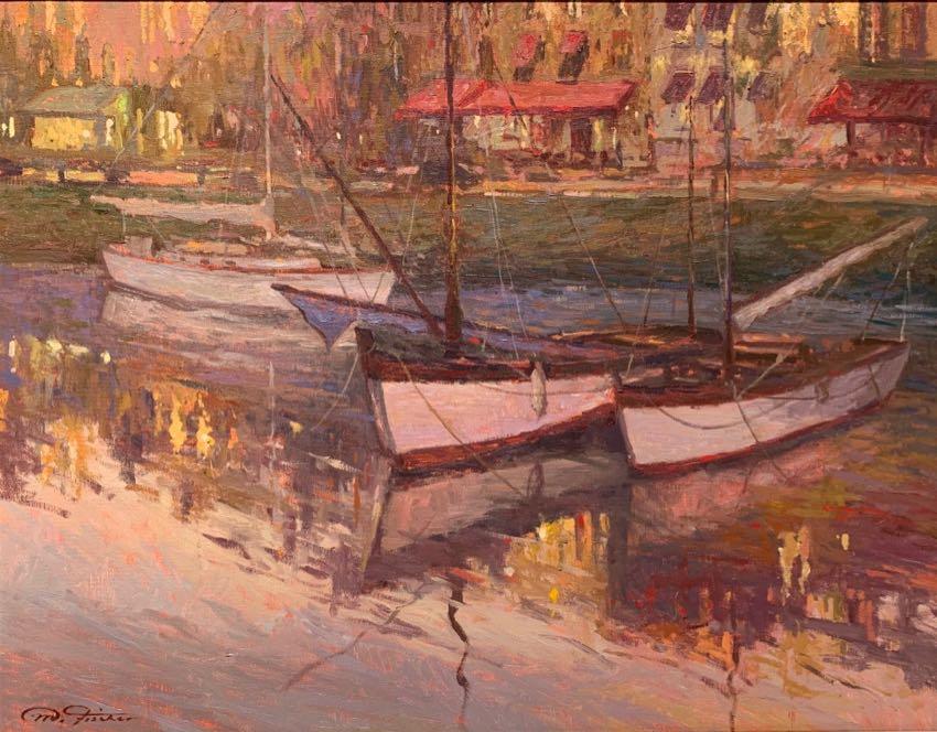 Twilight Harbor Matthias Fischer 24x30 oil
