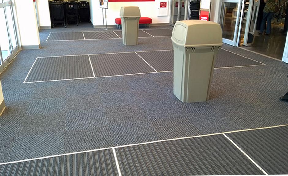 Carpet Tile Roll Goods Vinyl Flooring Custom Mats