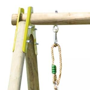 l installation d un portique en bois