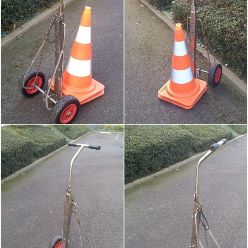 Road safety cones trolley