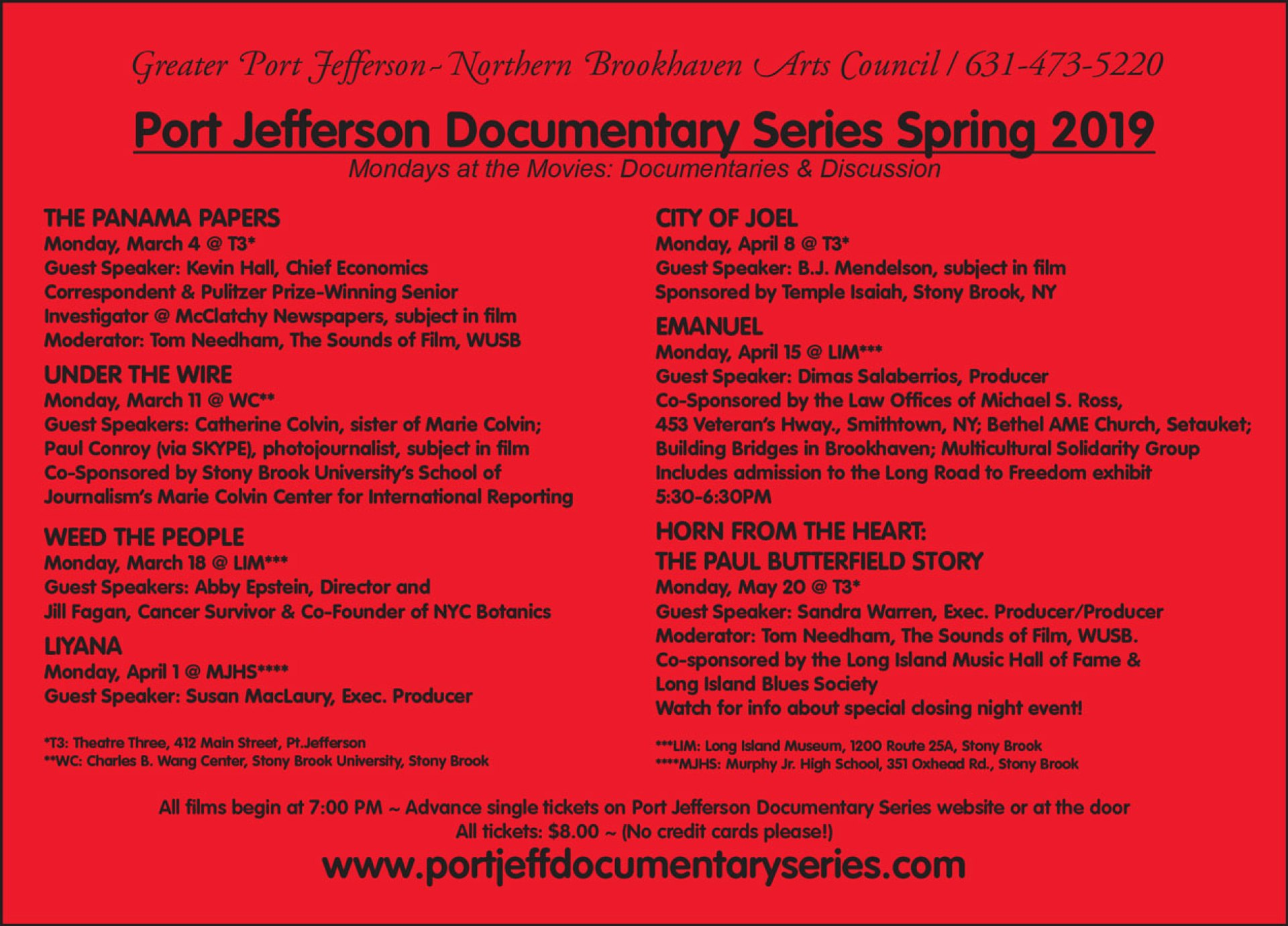 pjds spring 2019 red card front summary of films