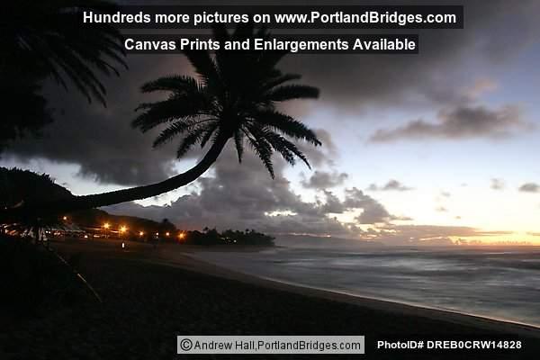Oahu Hawaii North Shore Sunset Beach Sunset Crooked