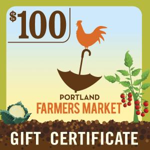 $100 Portland Farmers Market Gift Certificate