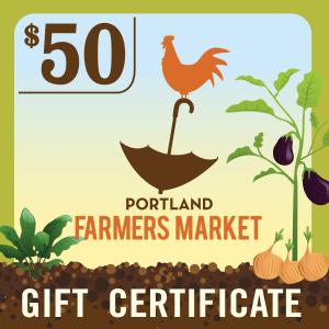 $50 Portland Farmers Market Gift Certificate