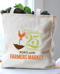 Portland Farmers Market 25th Anniversary Tote