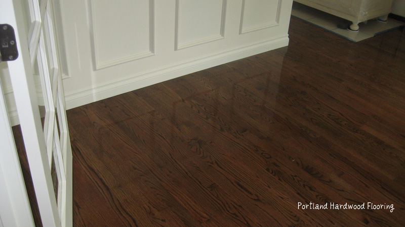 Portland Hardwood Flooring Oak With Medium Brown Stain