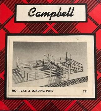 HO Campbell Cattle Loading Pens Kit