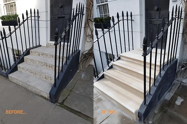 Portland London Steps Before After