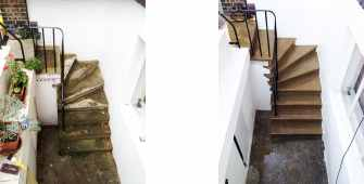 basement steps before and after
