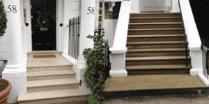 Traditional London Stone Front Entrance Steps