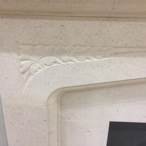 portland stone fireplace detail