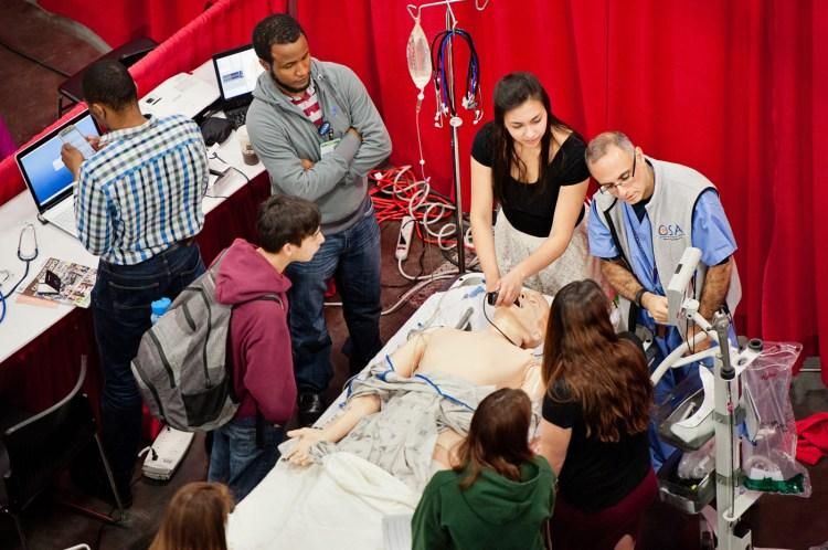 NW Youth Careers Expo 2016: Oregon Health & Science University exhibit