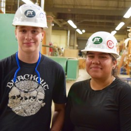 Franklin student works on her own high school; Madison student learns construction business