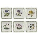 Portmeirion Botanic Garden 7 Inch Square Plate Set Of 6 Assorted Motifs Portmeirion