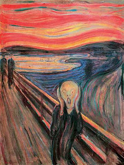 Cuadro canvas museo edward munch el grito en