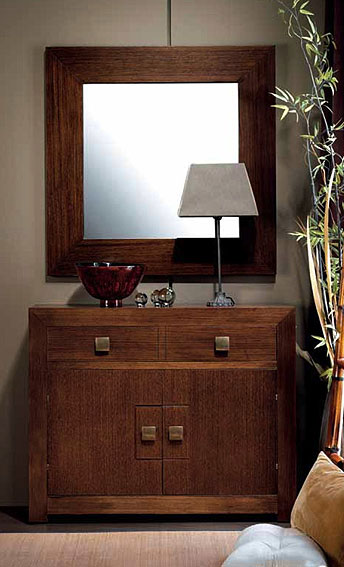 Mueble de entrada 2 puertas Colonial Hebea en Portobellostreetes
