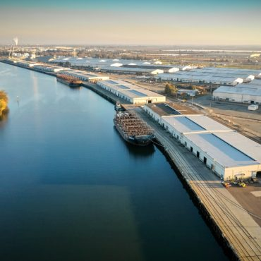 Aerial view of the Port of Stockton