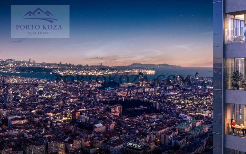صور مجمع كوين بومونتي (Sinpaş Queen Bomonti) ، شيشلي ، اسطنبول | بورتوكوزا العقارية