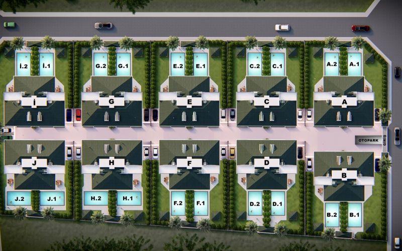 صور مخطط مجمع فلل مافيرا  Mavera Villa ، بيليك دوزو ، اسطنبول   بورتوكوزا العقارية