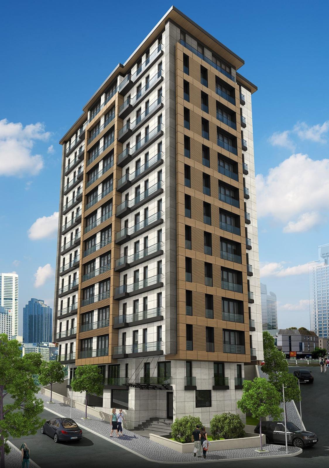 شقق للبيع  مساحة من 63 م2 إلى 85 م2 غرف من 2+1 إلى 3+1 في كاغتهانة Kağıthane
