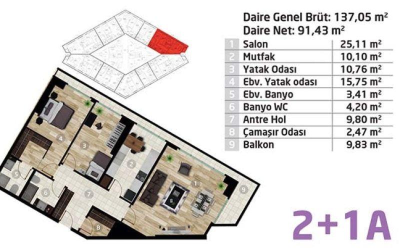 صور مخطط  اليت كونسبت (Elite Concept) ، كاديكوي ، اسطنبول | بورتوكوزا العقارية