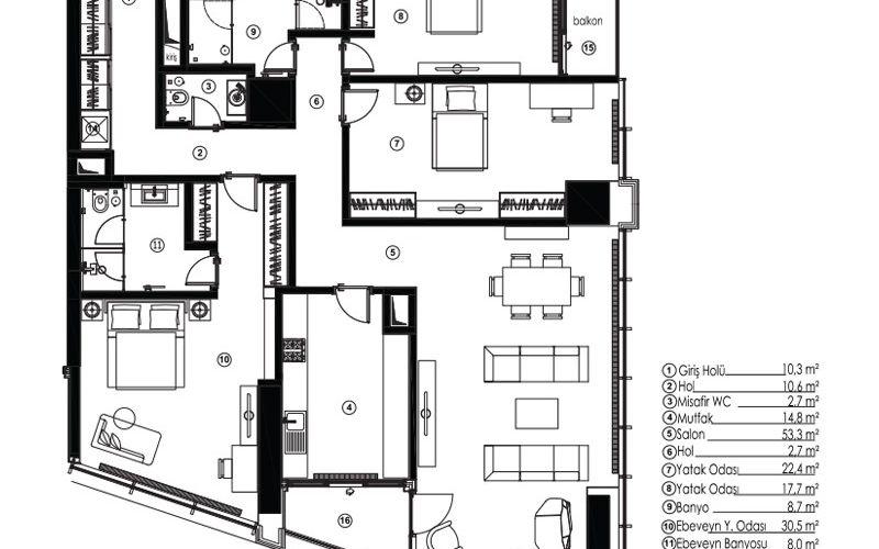 صور مخطط  مسلك 42 (Maslak 42) ، سارير ، حي مسلك ، اسطنبول | بورتوكوزا العقارية