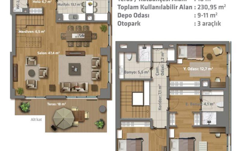 صور مخطط  جريتيست (Greenist) ، بهجه ايفلر ، حي يني بوسنا ، اسطنبول | بورتوكوزا العقارية